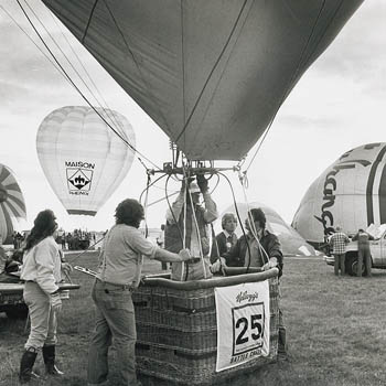 Preparing to take off in 1981 World Championship